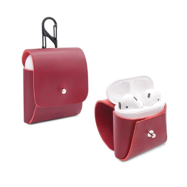 Ledercover für AirPods in rot