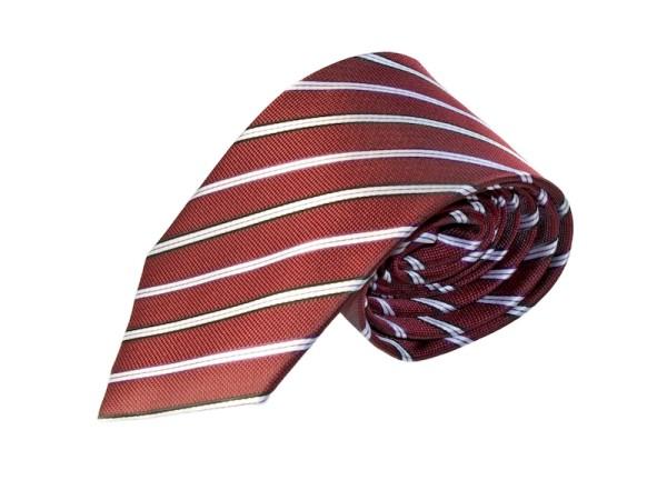Krawatte rot weiß gestreift