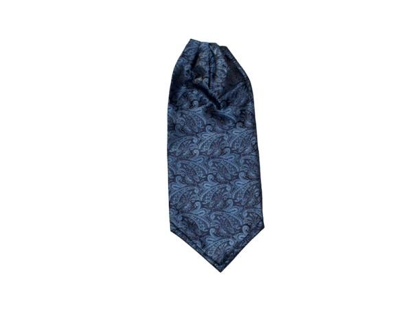 Krawattenschal Ascot blau mit Paisley