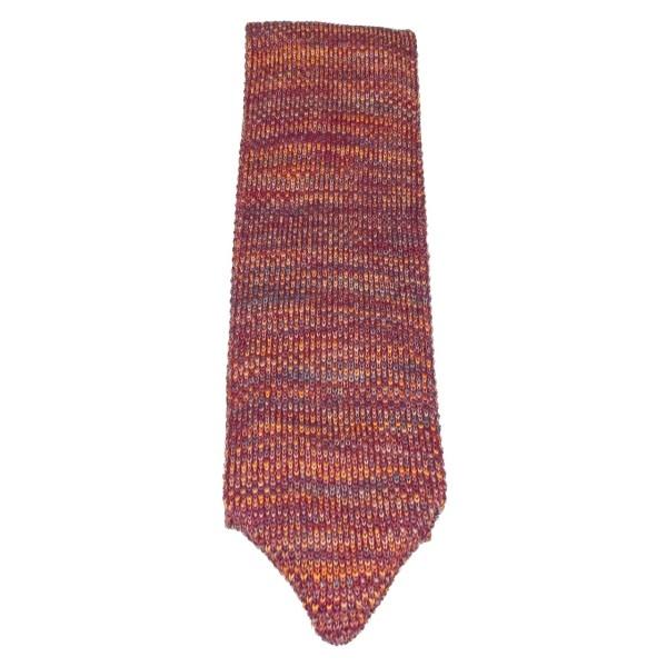 Gestrickte Krawatte für Herren rot-gelb von Royal Baxton