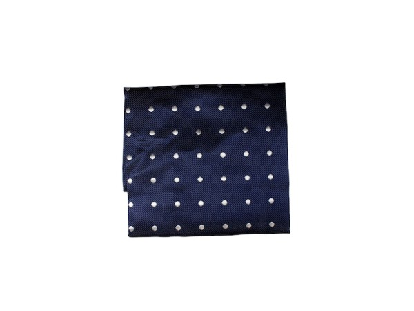 Einstecktuch blau mit weißen Punkten