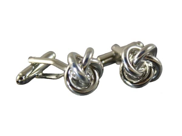 Manschettenknöpfe Knoten silber