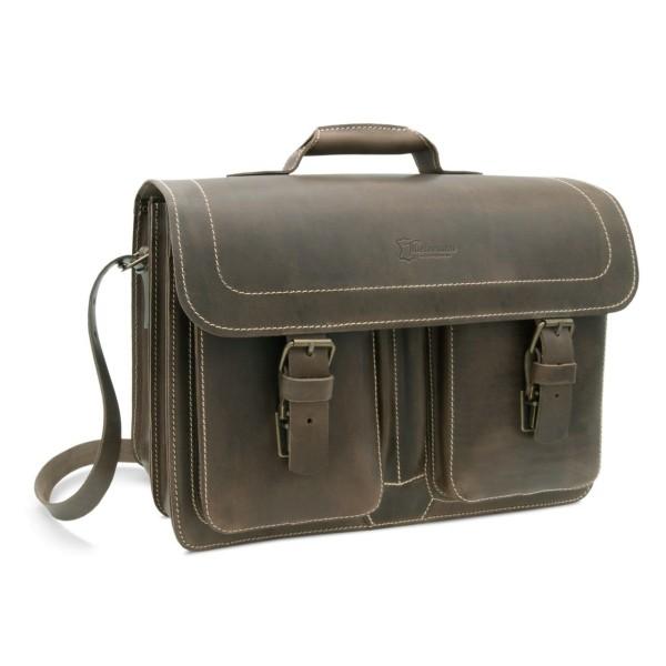 Tasche für Lehrer aus Leder Athen in braun