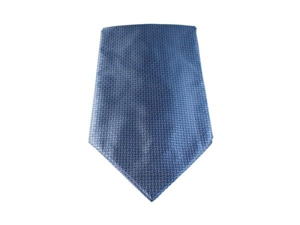 Krawattenschal blau mit schwarzen Balken