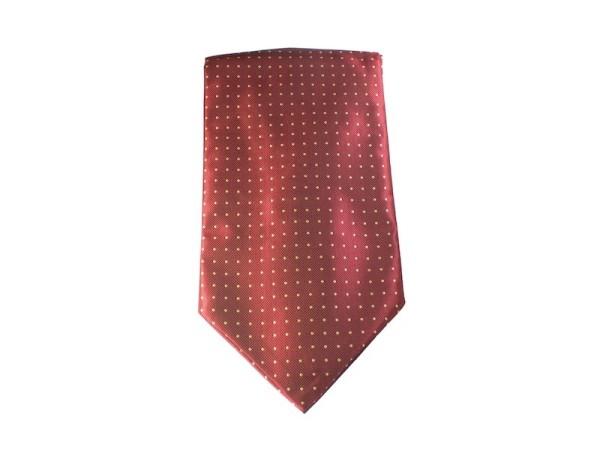 Ascot rot mit weißen Punkten