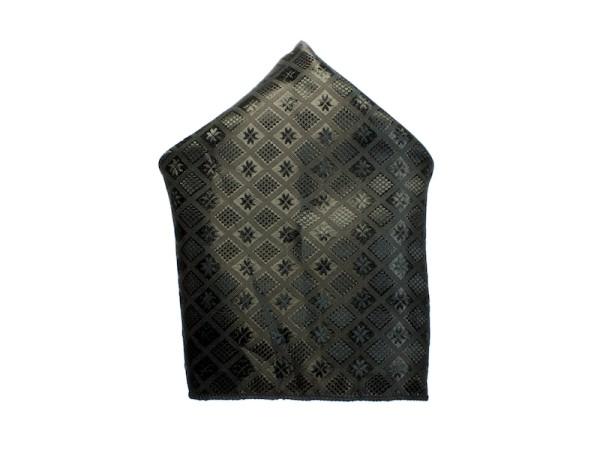 Einstecktuch schwarz Muster