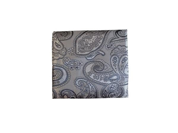 Einstecktuch grau mit paisley Muster