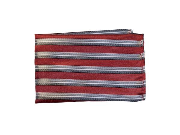 Einstecktuch rot grau gestreift