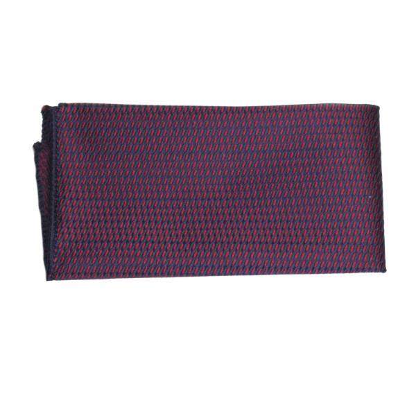Einstecktuch rot-blau mit feinem Muster