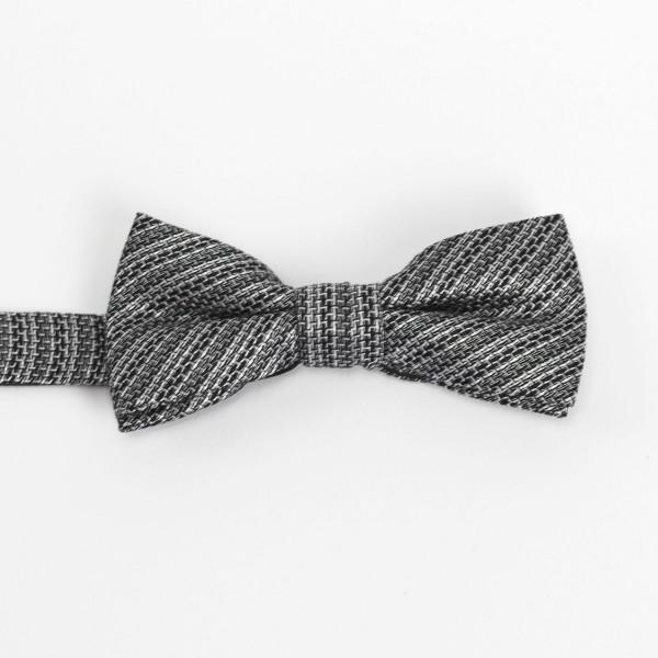 Schleife ohne binden grau-weiß