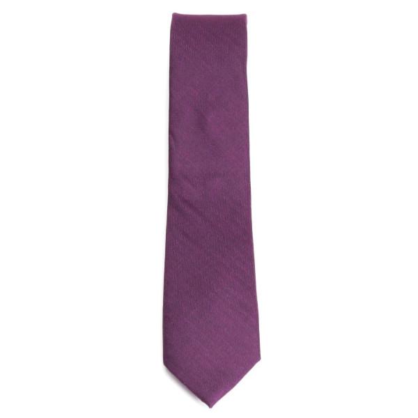 Krawatte aus feiner Baumwolle in lila