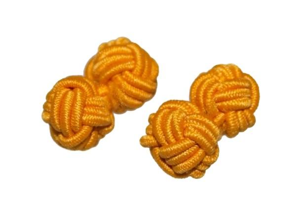 Seidenknoten Manschettenknöpfe orange