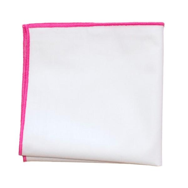 einstecktuch kaufen weiß mit pinker naht