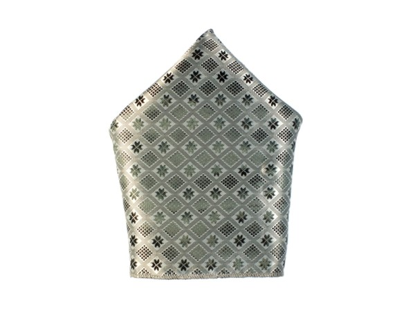 Einstecktuch silber-grau Muster