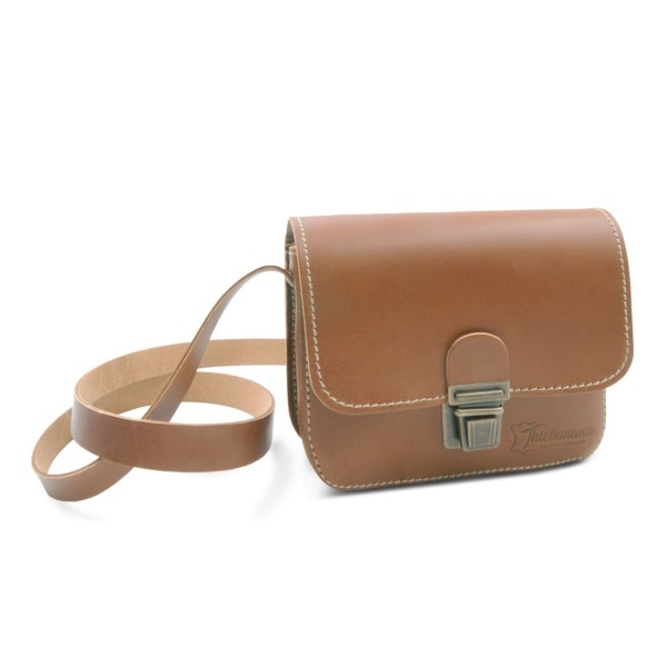 Herren-Handtasche aus Leder London in caramel