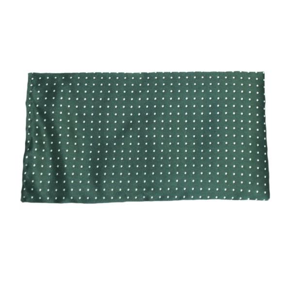 Einstecktuch grün mit weißen Punkten aus Seide