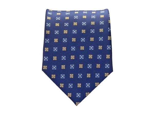 Krawatte blau mit Blumenmuster