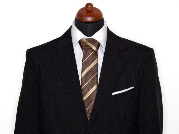 Krawatte braun mit goldenem Muster