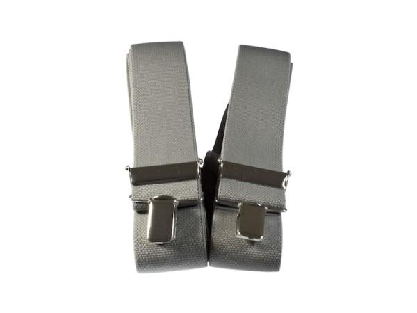 Hosenträger grau mit schmalen Clips