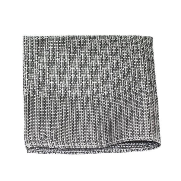 Einstecktuch Seide grau-meliert