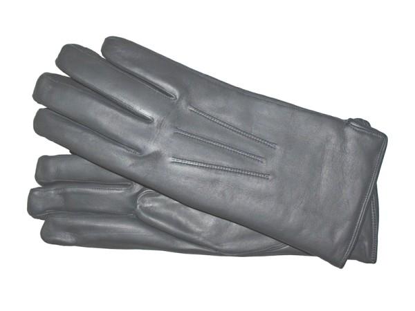 Handschuhe aus Leder für Herren in grau mit Baumwollfutter von Royal Baxton