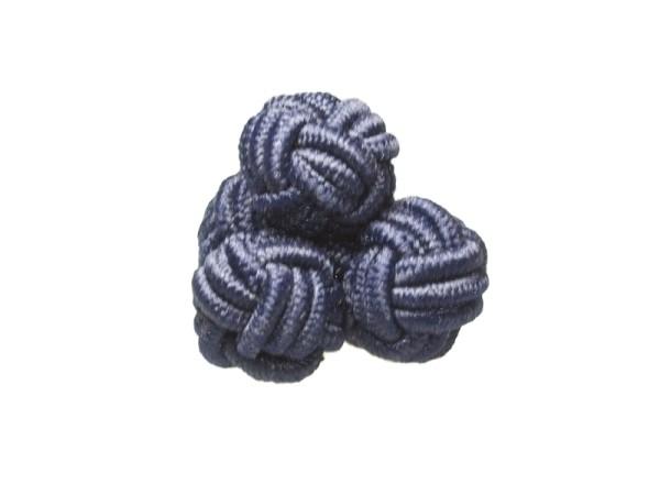 Seidenknoten Manschettenknöpfe nachtblau
