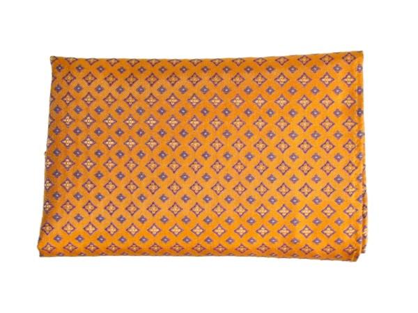 Einstecktuch orange gemustert