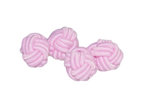 Seidenknoten Manschettenknöpfe rosa