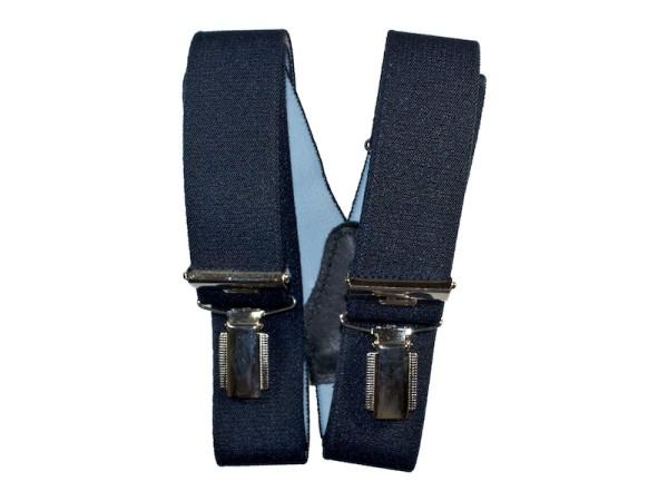 Hosenträger dunkelblau mit schmalen Clips