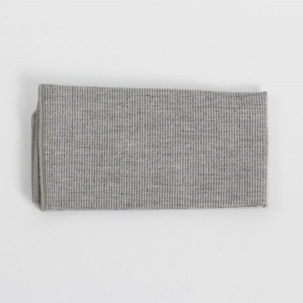 Einstecktuch grau aus Baumwolle