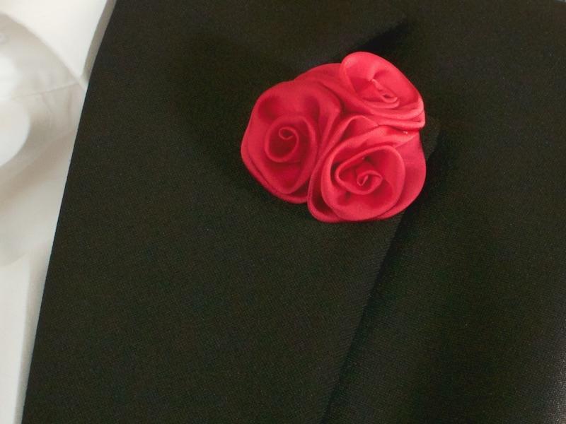 Ansteckblume Rot Gentleman Accessoires