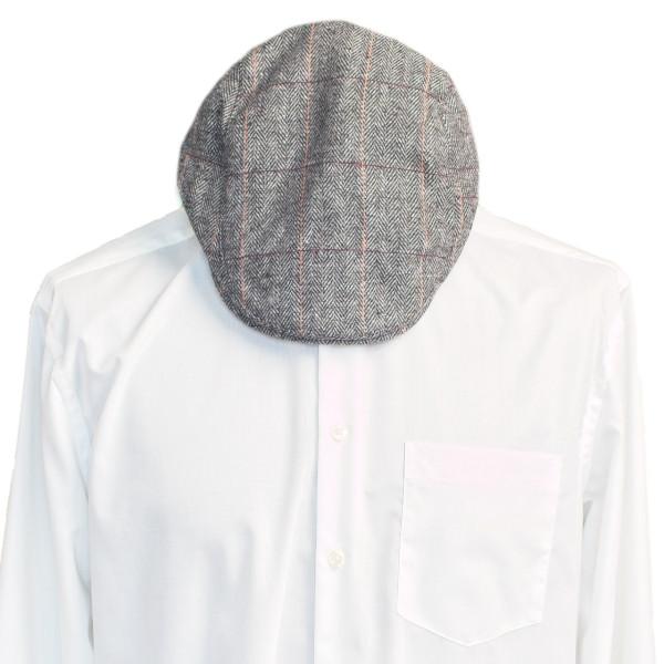 Flatcap Herren grau mit Streifen