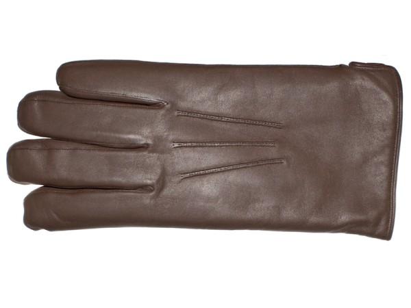 Lederhandschuhe für Herren aus Leder in braun gefüttert von Royal Baxton