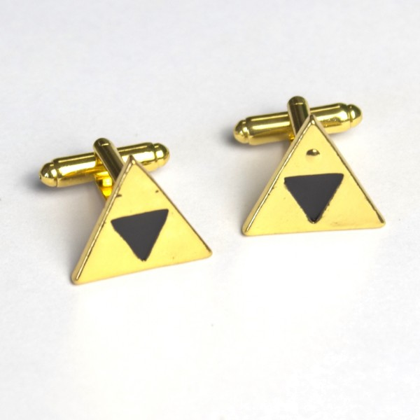 Manschettenknöpfe goldenes Dreieck