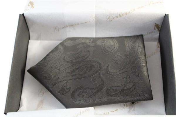 Einstecktuch in braun mit paisley Muster