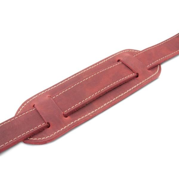 Schulterpolster für Ledertaschen in rot antik