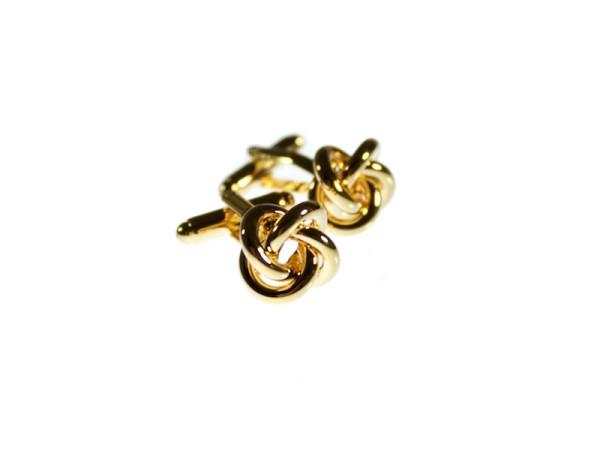 Manschettenknöpfe gold Knoten