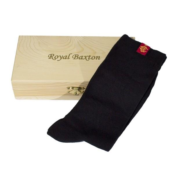 Royal Baxton Herren Socken schwarz