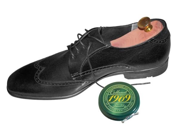 Schuhwachs schwarz collonil 1909