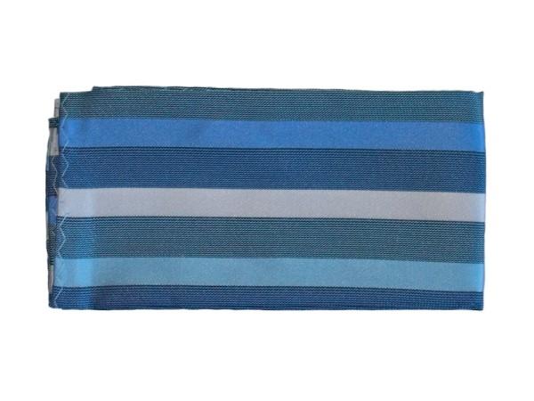Einstecktuch blau modern gestreift