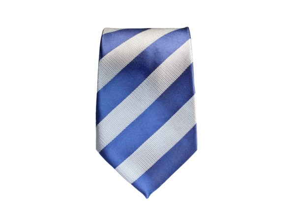 Krawatte blau grau gestreift