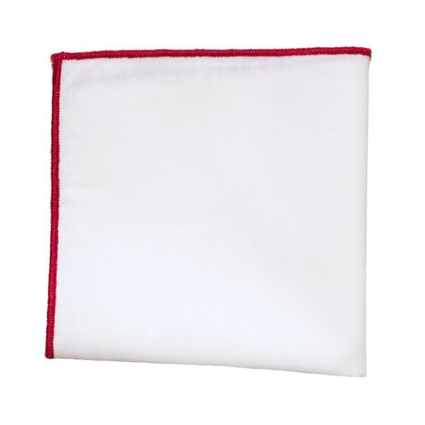 einstecktuch kaufen weiß rot