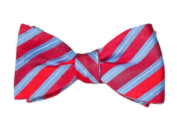 Fliege rot hellblau gestreift für Männer mit Anzug