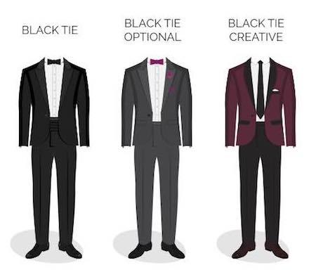 Abwandlungen vom Dresscode black-tie