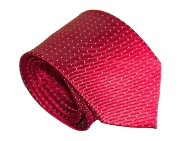 Krawatte rot fein gepunktet