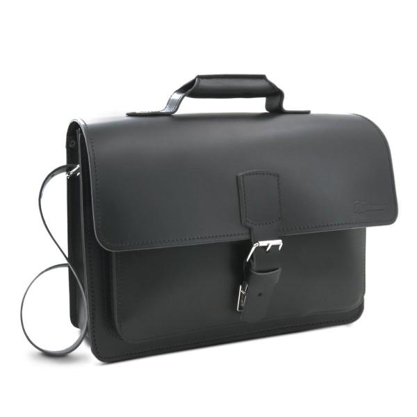 Tasche für Lehrer aus Leder Skopie in schwarz