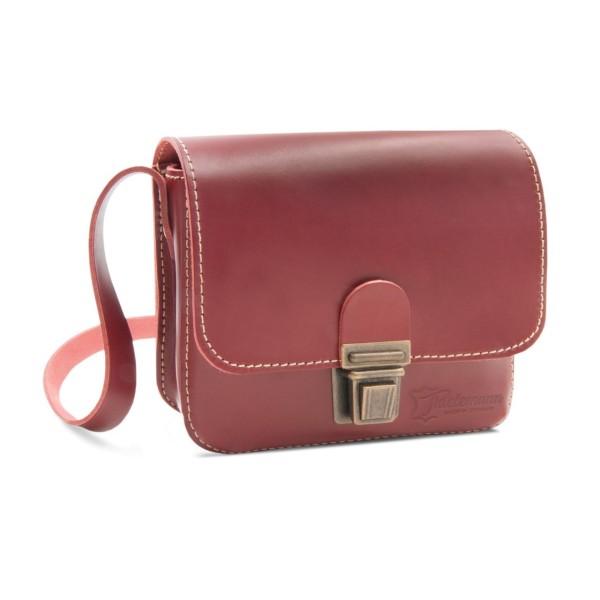 Herren-Handtasche aus Leder London rot
