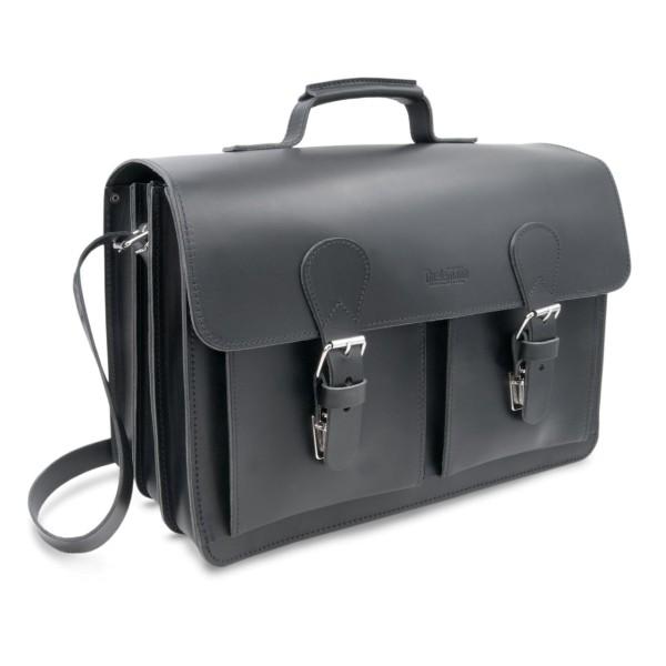 Tasche für Lehrer aus Leder Palermo in schwarz