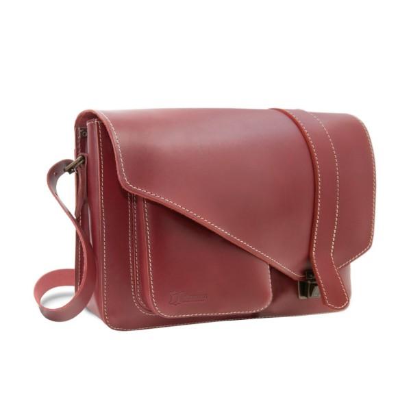 Messenger Bag aus Leder für Männer Alexandria rot