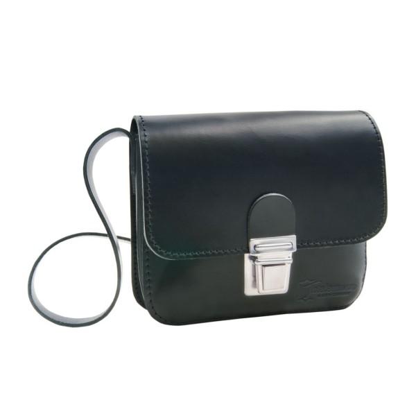Kleine Herren-Lederhandtasche schwarz London